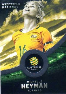 2016/17 FFA & A-League Soccer Silver Parallel #32 Michelle Heyman Matildas