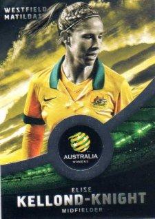 2016/17 FFA & A-League Soccer Silver Parallel #33 Elise Kellond-Knight Matildas