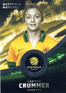 2016/17 FFA & A-League Soccer Silver Parallel #28 Larissa Crummer Matildas