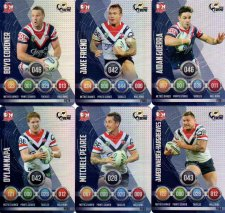 2016 NRL Power Play Xtreme 6-Card Parallel Team Set Sydney Roosters