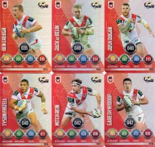 2016 NRL Power Play Xtreme 6-Card Parallel Team Set St George Dragons