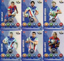 2016 NRL Power Play Xtreme 6-Card Parallel Team Set Newcastle Knights