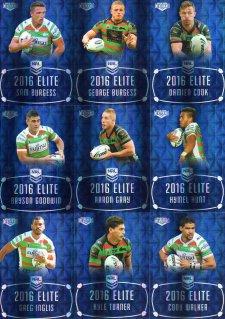 2016 NRL Elite Sapphire MOJO South Sydney Rabbitohs #16/20