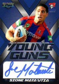 2015 NRL Elite Young Gun Signature #YGS8 Sione Mata'Utia Knights #25/130