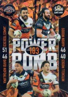 2017 NRL Xtreme Power Bomb PB16 Wests Tigers
