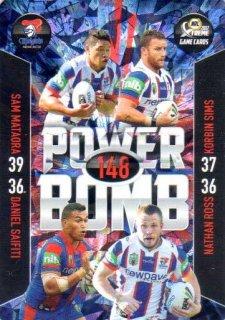 2017 NRL Xtreme Power Bomb PB8 Newcastle Knights
