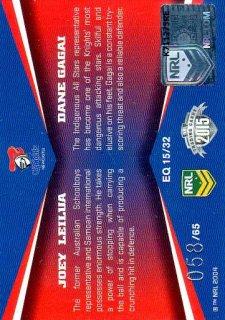 2015 NRL Elite Quads #EQ15 Joey Leilua / Dane Gagai Knights #58/65
