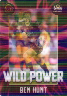 2017 NRL Xtreme Flick Card WP1 Wild Power Ben Hunt Broncos