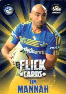 2017 NRL Xtreme Flick Card FC10 Tim Mannah Eels