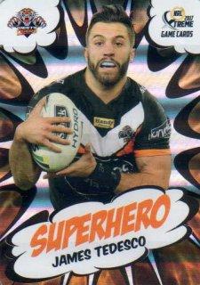 2017 NRL Xtreme Superhero SH32 James Tedesco Tigers