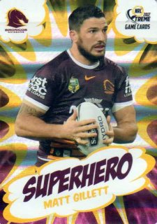 2017 NRL Xtreme Superhero SH2 Matt Gillett Broncos