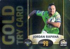 2017 NRL Xtreme Power Card PC2 Jordan Rapana Raiders