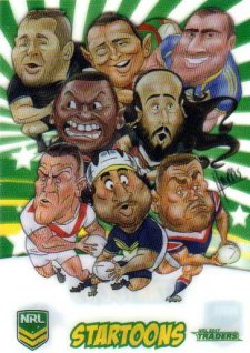 2017 NRL Traders Startoons ST14 Group B Header Card