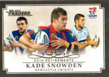 2017 NRL Traders Retirements R10 Kade Snowden Knights