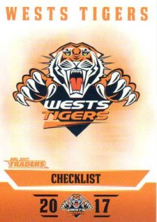 2017 NRL Traders Parallel Pearl Series PS151 Tigers Checklist