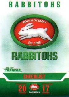 2017 NRL Traders Parallel Pearl Series PS111 Rabbitohs Checklist
