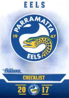 2017 NRL Traders Parallel Pearl Series PS91 Eels Checklist