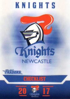 2017 NRL Traders Parallel Pearl Series PS71 Knights Checklist