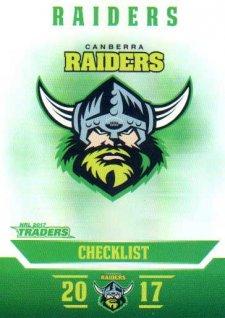 2017 NRL Traders Parallel Pearl Series PS11 Raiders Checklist