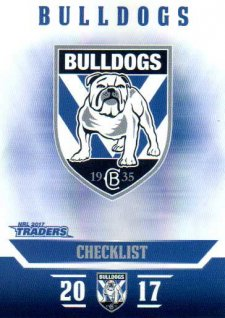 2017 NRL Traders Parallel Pearl Series PS21 Bulldogs Checklist