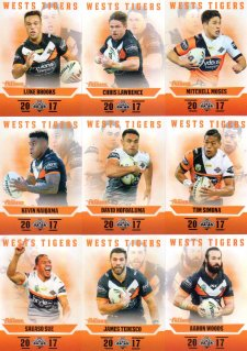 2017 NRL Traders Pearl Special Parallel Team Set Wests Tigers