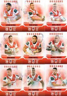 2017 NRL Traders Pearl Special Parallel Team Set St George Dragons