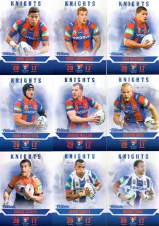 2017 NRL Traders Pearl Special Parallel Team Set Newcastle Knights