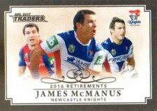 2017 NRL Traders Retirements R8 James McManus Knights