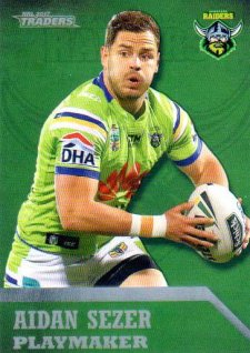 2017 NRL Traders Playmaker PM2 Aiden Sezer Raiders