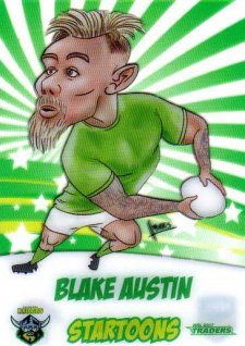 2017 NRL Traders Startoons ST2 Blake Austin Raiders