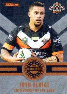 2017 NRL Traders Club Hero CH32 Josh Aloiai Tigers