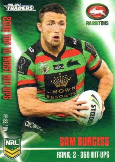 2017 NRL Traders Pieces of the Puzzle PP28 Sam Burgess Rabbitohs