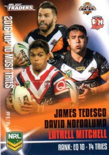 2017 NRL Traders Pieces of the Puzzle PP9 Tedesco / Nofoaluma / Mitchell Tigers Roosters