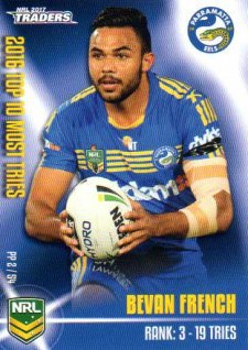 2017 NRL Traders Pieces of the Puzzle PP2 Bevan French Eels