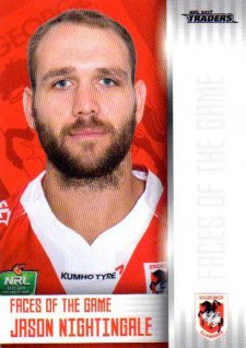 2017 NRL Traders Faces of the Game FG38 Jason Nightingale Dragons