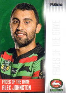 2017 NRL Traders Faces of the Game FG35 Alex Johnston Rabbitohs