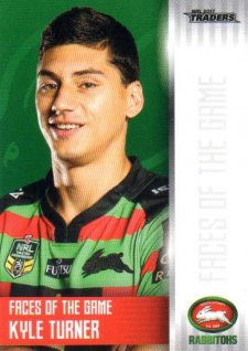 2017 NRL Traders Faces of the Game FG36 Kyle Turner Rabbitohs