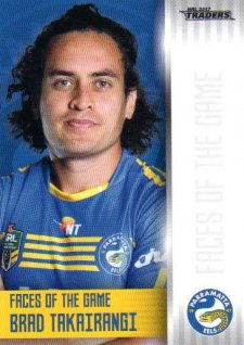 2017 NRL Traders Faces of the Game FG30 Brad Takairangi Eels