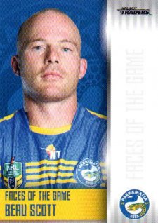 2017 NRL Traders Faces of the Game FG29 Beau Scott Eels