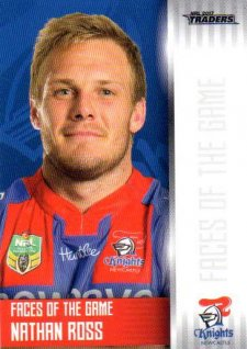 2017 NRL Traders Faces of the Game FG24 Nathan Ross Knights