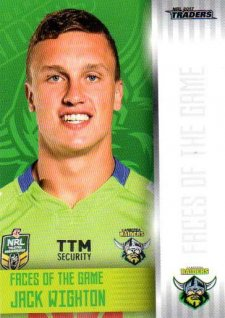 2017 NRL Traders Faces of the Game FG6 Jack Wighton Raiders