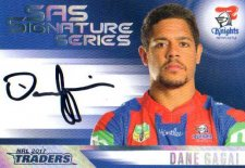 2017 NRL Traders SAS Signature Series SAS8 Dane Gagai Knights
