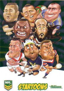2017 NRL Traders Startoons Album Version STA14 Header Card B