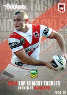 2015 NRL Traders Pieces of the Puzzle #PP24 Mitch Rein Dragons