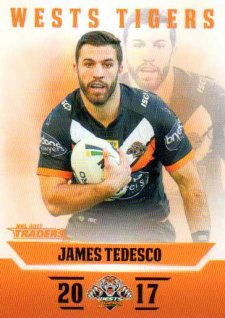 2017 NRL Traders Parallel Pearl Series PS159 James Tedesco Tigers