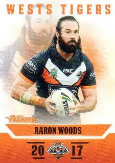2017 NRL Traders Parallel Pearl Series PS160 Aaron Woods Tigers
