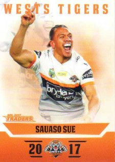 2017 NRL Traders Parallel Pearl Series PS158 Suauaso Sue Tigers