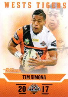 2017 NRL Traders Parallel Pearl Series PS157 Tim Simona Tigers