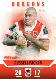 2017 NRL Traders Parallel Pearl Series PS127 Russell Packer Dragons