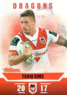 2017 NRL Traders Parallel Pearl Series PS128 Tariq Sims Dragons